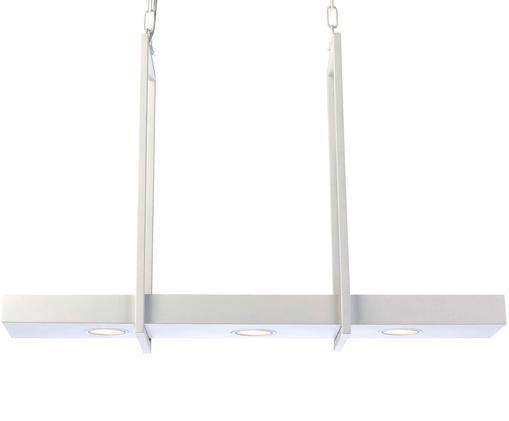 LED hanglamp Tray in industrieel design, Gelakt metaal, Wit, 80 x 50 cm