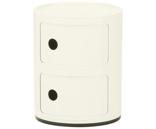 Stolik pomocniczy Componibile, Tworzywo sztuczne, Biały, Ø 32 x W 40 cm