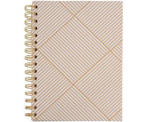Notizbuch Bürli, Goldfarben, Weiß