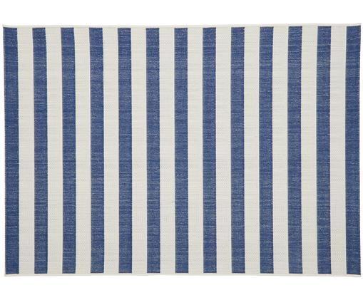 Dywan wewnętrzny/zewnętrzny Axa, Biały, niebieski, S 160 x D 230 cm (Rozmiar M)