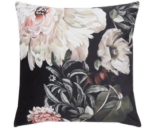Fluwelen kussenhoes Bloom, Multicolour