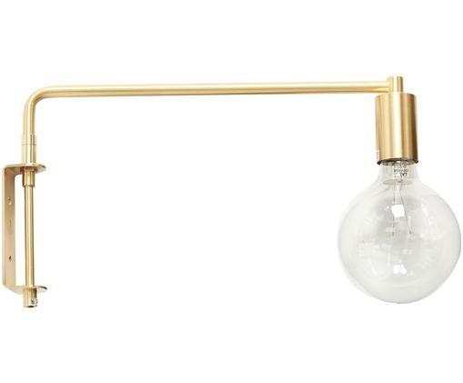 Applique a LED Indie, Ottone spazzolato, Ottone, Lung. 41 x Alt. 24 cm