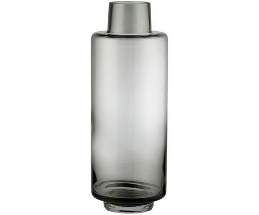 Mundgeblasene Vase Hedria,groß, Glas, Rauchgrau, Ø 11 x H 30 cm