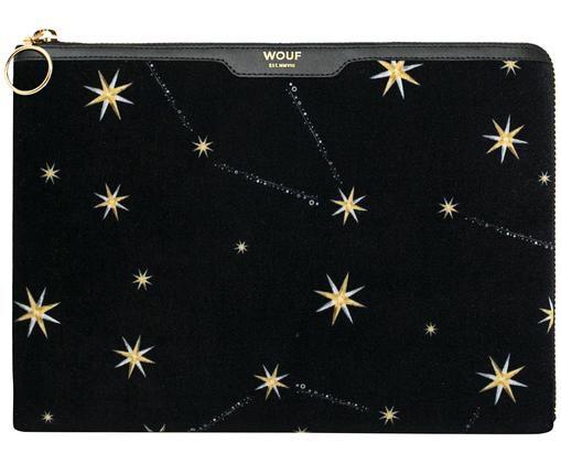 IPad Air hoes Cosmos Velvet, Zwart, 24 x 17 cm