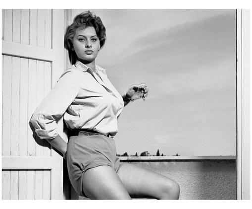 Poster Sophia Loren, Nero, bianco