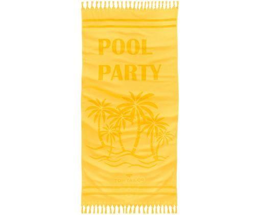 Fouta Pool Party, Żółty, S 90 x D 180 cm