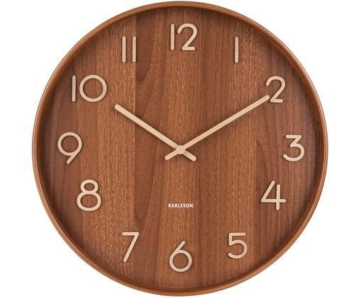 Orologio da parete Pure, Legno, Marrone, beige, Ø 60 cm
