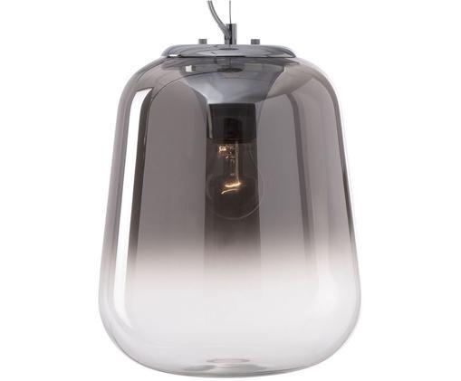 Lampada a sospensione Oliverio, Paralume: vetro, Grigio, Ø 25 x Alt. 34 cm