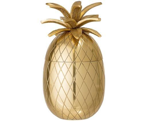 IJsemmer Pineapple, Aluminium, Goudkleurig, Ø 13 x H 24 cm
