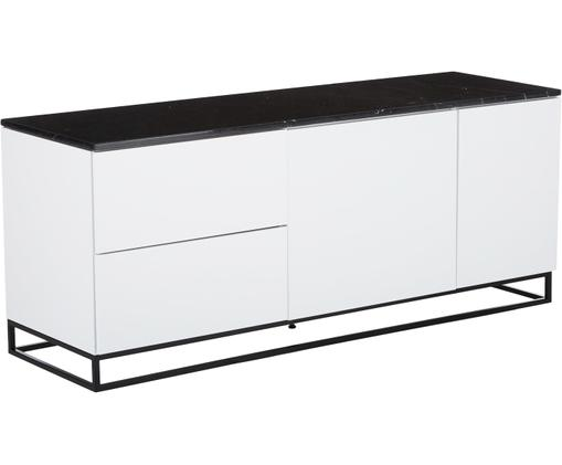 Dressoir Join, Wit, zwart
