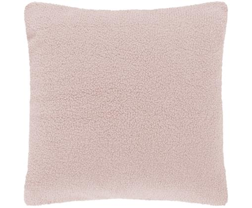 Federa arredo in teddy Mille, Retro: 100% poliestere (teddy), Rosa, Larg. 45 x Lung. 45 cm