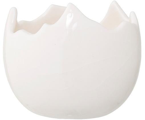 Świecznik Cracking, Kamionka, Biały, Ø 6 x W 6 cm