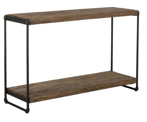 Konsola  Iron, Drewno tekowe, czarny