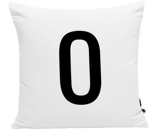 Kussenhoes Alphabet (varianten van A tot Z), Polyester, Wit met zwarte vlekken, Kussenhoes O