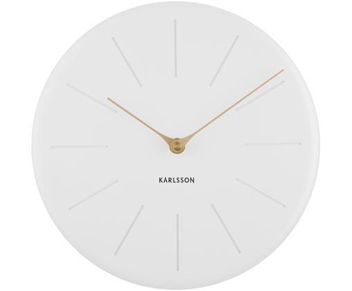Orologio da parete Sole Station, Materiale sintetico, Bianco, dorato, Ø 25 cm