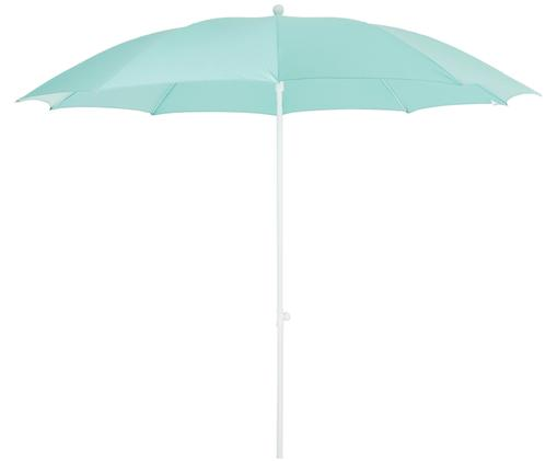 Parasol Salina, Blanc, bleu aqua