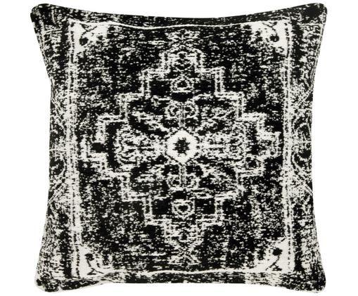 Poszewka na poduszkę Corinna, Czarny, kremowobiały, S 45 x D 45 cm