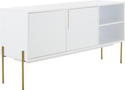 Weißes Sideboard Jesper mit Türen
