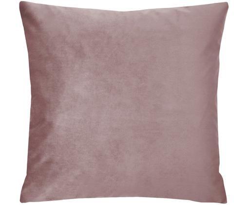 Poszewka na poduszkę z aksamitu Monet, 100% aksamit poliestrowy, Brudny różowy, S 50 x D 50 cm