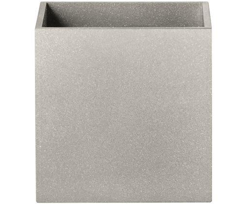 Applique Quad, Alluminio verniciato a polvere, Grigio, Larg. 10 x Alt. 10 cm