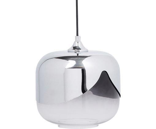 Lampada a sospensione Goblet, Paralume: vetro colorato, Baldacchino: acciaio cromato, Cromo, Ø 27 x Alt. 142 cm