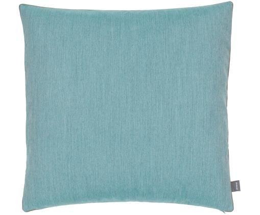 Funda de cojín de exterior Emu, Poliacrílico Certificado Oeko-Tex, Azul turquesa claro, An 50 x L 50 cm