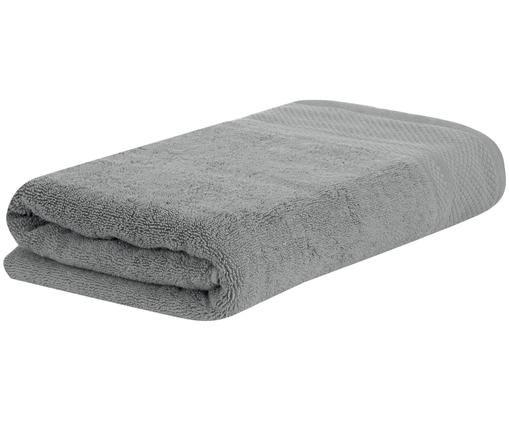 Asciugamano con bordo decorativo Premium, Grigio scuro, Telo bagno