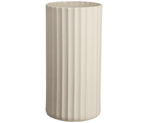 Handgemaakte vaas Yoko, Porselein, Lampenkap: grijs. Lampvoet: grijs. Snoer: wit, Ø 12 x H 24 cm