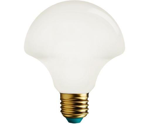 Lampadina a LED Willow (E27 / 4,5 Watt), Vetro, alluminio, Bianco, Ø 10 x Alt. 11 cm
