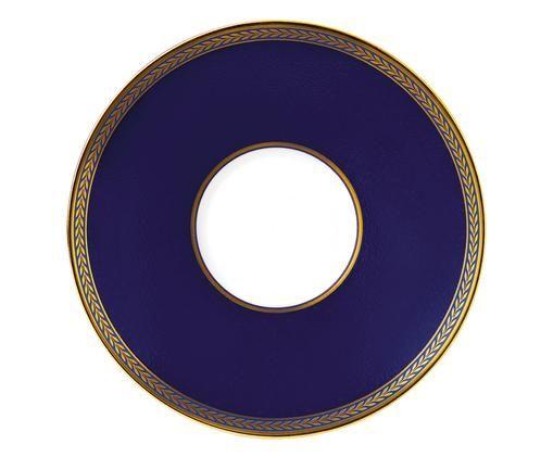 Untertasse Tee Renaissance Gold, Rand: Vergoldet, Blau, Weiß, Gold, Ø 15 x H 1 cm