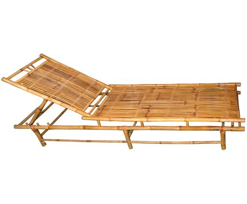 Bambus-Gartenliege Bammina, Bambus, Beige, 70 x 33 cm