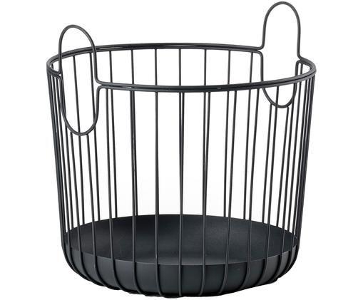 Kosz do przechowywania Ina, Metal, Czarny, Ø 30 x W 31 cm