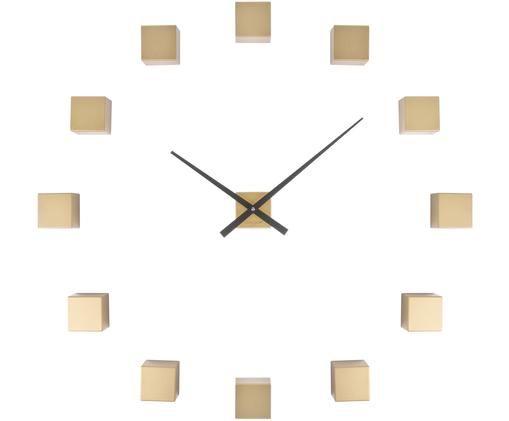 Orologio da parete fai-da-te Cubic, Materiale sintetico, Dorato, nero, Larg. 6 x Alt. 6 cm