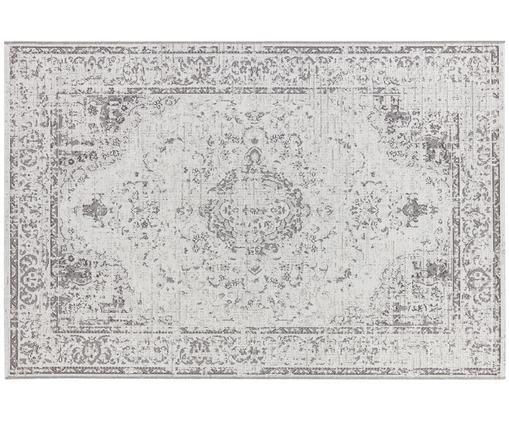 Alfombra de interior y exterior en estilo vintage Cenon, Polipropileno, Crema, gris, An 115 x L 170 cm