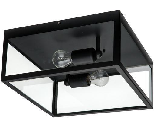 Applique style industriel Aberdeen, Noir, transparent