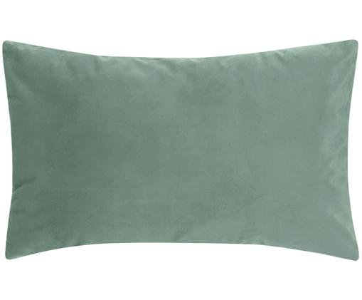 Federa arredo in velluto lucido Monet, Verde menta