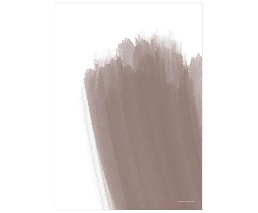 Póster Paint No.2, Blanco, beige
