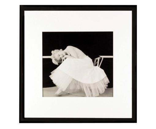 Stampa digitale incorniciata Dancing Queen, Immagine: nero, bianco Cornice: nero
