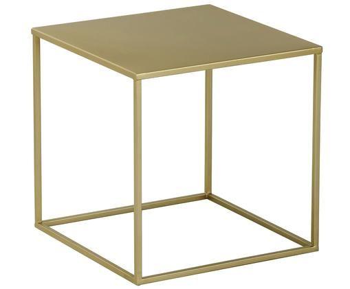 Table d'appoint en métal Stina, Couleur dorée, mat