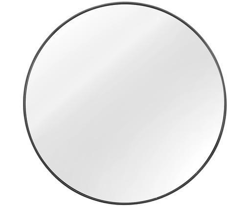 Specchio da parete Ada, Cornice: metallo zincato, Superficie dello specchio: lastra di vetro, Retro: pannello di fibra a media, Grigio scuro, Ø 60 cm