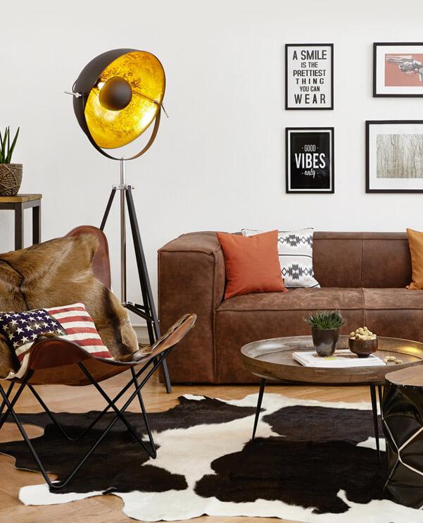 Get the Look Industrial Wohnzimmer - Wohnwelten zum Verlieben ...
