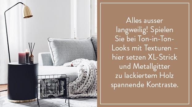 Sofa-Styling: Grey