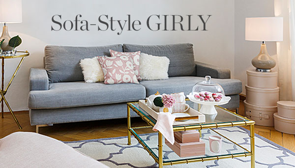 Sofa w stylu girly