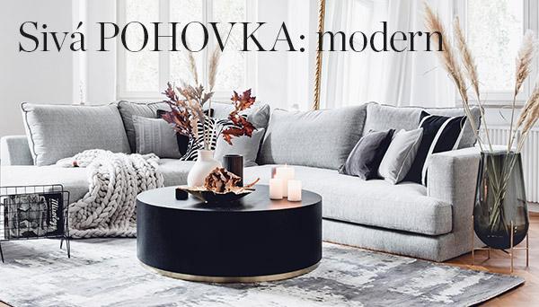 Sivá pohovka: modern