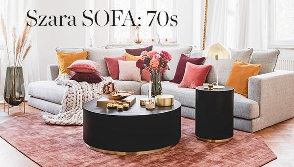 Szara sofa 70s