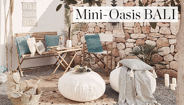 Autres articles du look »Mini oasis Bali«