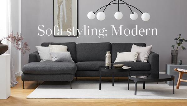 Sofa styling: Modern