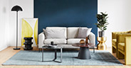 Sofa styling: Artsy