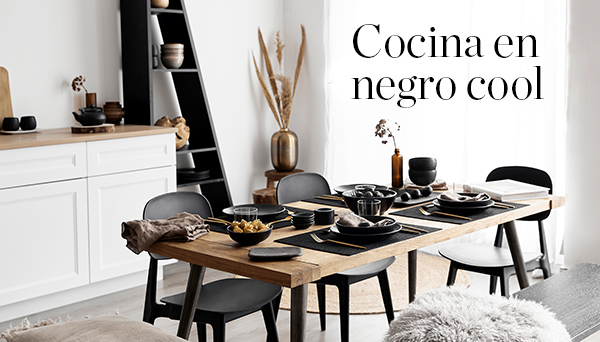 Cocina en negro cool