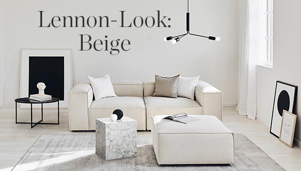 Lennon-Look: Beige